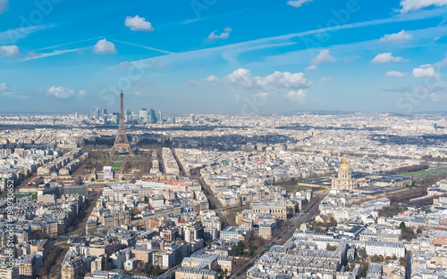 Foto op Plexiglas Parijs Paris, panorama of the Eiffel tower and the Invalides