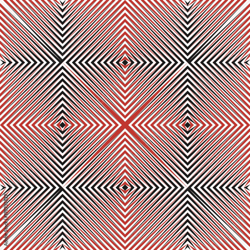 Abstract halftone lines geometric seamless pattern. Vector modern design background.