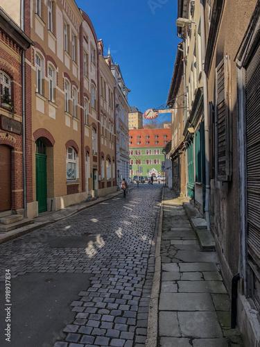 Plexiglas Smalle straatjes Altstadt von Rudolstadt