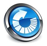 Rotate arrow icon 3d blue round button - 198938482