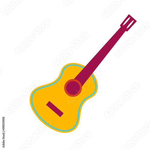 Fototapeta Acoustic guitar flat illustration