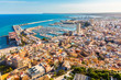 Alicante city panoramic aerial view