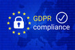 GDPR - General Data Protection Regulation. GDPR compliance symbol. Vector - 198956611