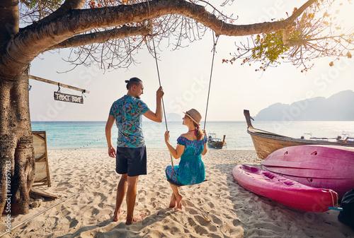 Couple on the tropical beach