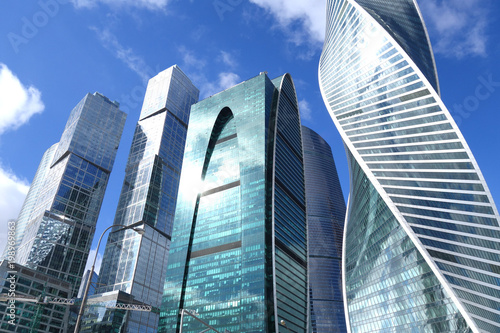 Skyscrapers of Moscow business city