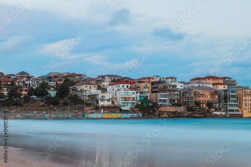 Foto op Plexiglas Sydney Long exposure view of North Bondi Beach.