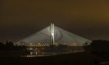 Wroclaw by night, Poland Redzinski Bridge