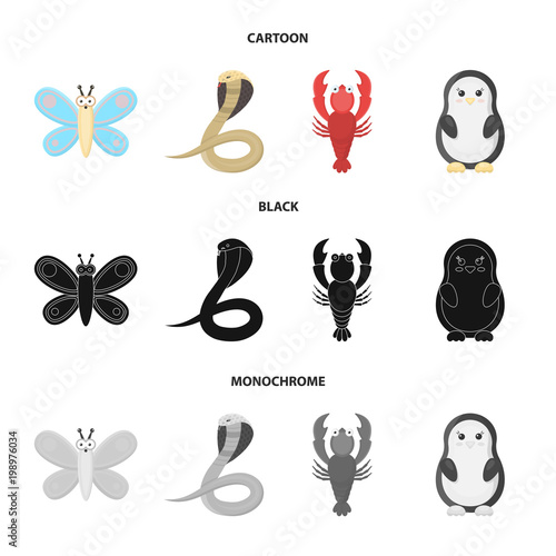 An unrealistic cartoon,black,monochrome animal icons in set collection for design. Toy animals vector symbol stock web illustration. - 198976034