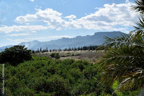 Fotobehang Blauwe hemel Country views in Spain