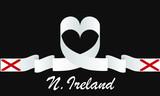 ireland flag and love ribbon