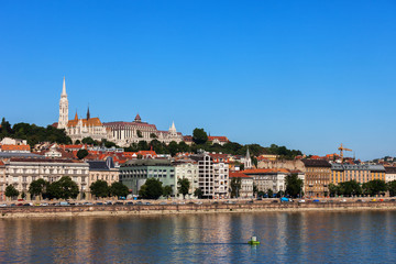 City of Budapest at Danube River in Hungary