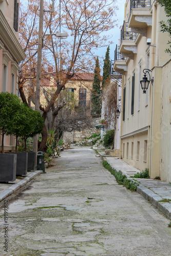 Poster Smal steegje Callejuelas de Grecia, Atenas