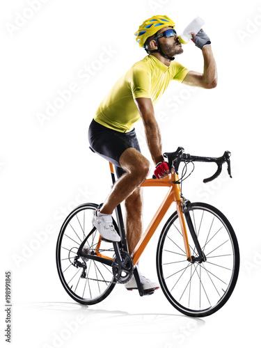 Profesuralny drogowy rowerowy setkarz odizolowywający na bielu
