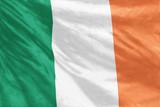 Flag of Ireland full frame close-up