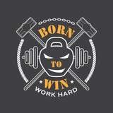 Fototapety Workout and Fitness emblem