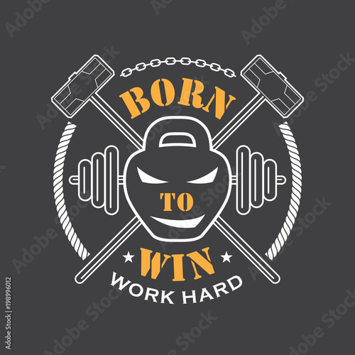 Poster Workout and Fitness emblem
