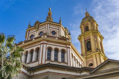 Fotobehang Liguria Basilica of San Gervasio e Protasio in Rapallo, Italy