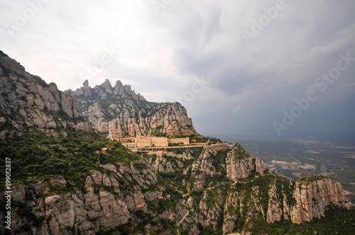 Santa Maria Montserrat monastery located near Barcelona, Spain