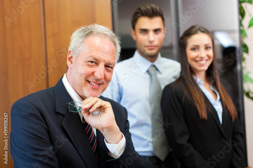 Smiling business group