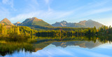 high resolution panorama of a mountain lake in the Tatra Mountains, Strbske Pleso, Slovakia