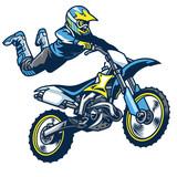 motocross rider doing superman trick