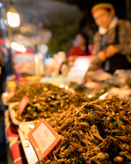 Thailand Street market insects food healthy