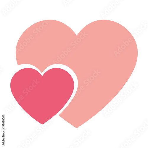 hearts love isolated icon vector illustration design