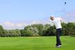 Golfer hit a golf ball