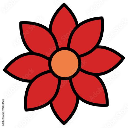 beautiful flower decorative icon vector illustration design - 199034473