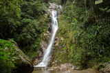 A waterfall in the tropical forest, near Medellin, Antioquia, Colombia