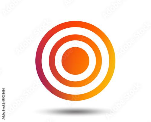 Target aim sign icon. Darts board symbol. Blurred gradient design element. Vivid graphic flat icon. Vector