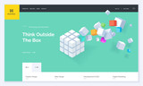 Website template design. Modern vector illustration concept of web page design for website and mobile website development. Easy to edit and customize. - 199041283