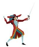 hook captain sailor with sword