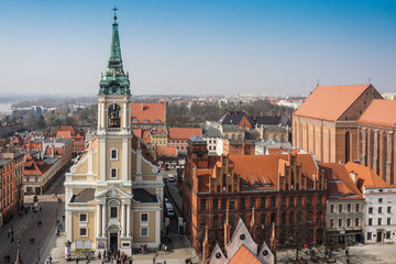 Panorama of the polish town, Torun