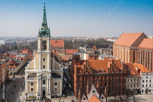 Poster Praag Panorama of the polish town, Torun