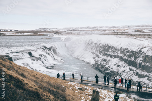 Aluminium Wit Iceland Gullfoss 3