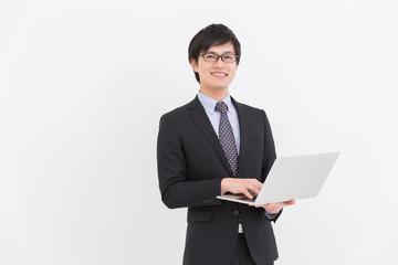 パソコンを見る男性 ビジネス