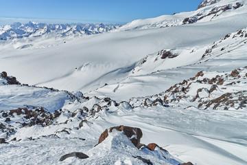 Mountain Baksan valley, Elbrus, Russia.