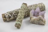 Bundles of Sage with beautiful spirit quartz crystal - 199071828