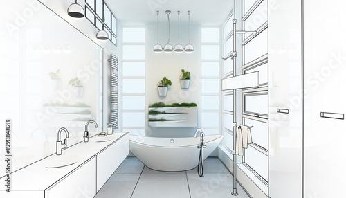 Contemporary Bathroom Adaptation (project) - 199084828