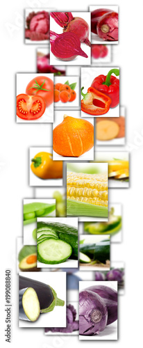 Foto op Aluminium Verse groenten Vegetable Mix Rectangles