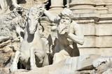 Detail, Pferd mit Triton, Brunnen Fontana di Trevi, Rom, Latium, Italien, Europa