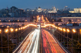 Moscow. Evening. Road to the Cathedral of Christ the Savior
