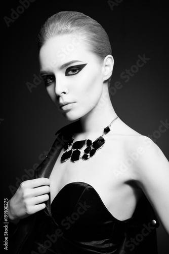 Fotobehang womenART Woman with bright makeup