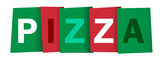 PIZZA colourful letters icon - 199104816
