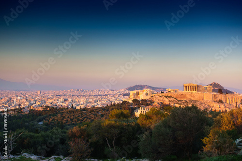 Acropolis - Athens from a distance, Greece