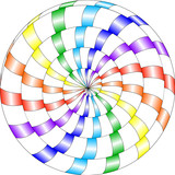 psychedelic pattern, snail, multi-colored spiral, optical illusion in the colors of the rainbow - 199109624