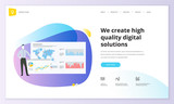 Website template design. Modern vector illustration concept of web page design for website and mobile website development. Easy to edit and customize. - 199110053