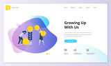 Website template design. Modern vector illustration concept of web page design for website and mobile website development. Easy to edit and customize. - 199110095