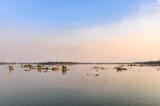 Mekong River at sunset in Don Kone, 4000 Islands, Laos